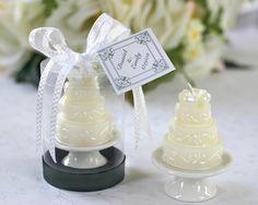 Little Tiny Wedding Cakes Candle Wedding Favors, Candle Favors, Beach Wedding Favors, Unique Wedding Favors, Bridal Shower Favors, Unique Weddings, Wedding Gifts, Wedding Cakes, Wedding Ideas