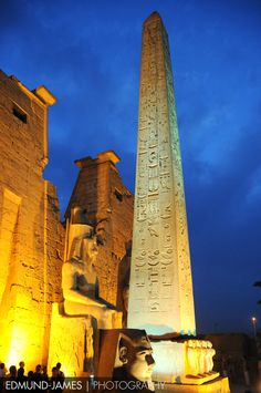 Egyptian Obelisk at Dusk,,,These obelisks have the exact same intricate pattern on all four sides with carvings that look like they were cut by lasers...and yet they were made over 4,000 years ago!