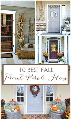 10 Best Fall Front Porch Ideas via A Blissful Nest