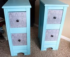 Sugar Bee Crafts: sewing, recipes, crafts, photo tips, and more!: Nightstands - from a desk!