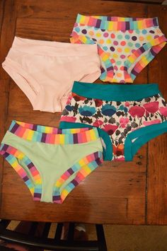 Sewing underwear has never been easier! After wearing a pair of Scrundlewear, you won't want a store bought pair ever again. The wide band option is so comfortable, you can barely tell you're wearing them. This pattern is also great for making swimming suit bottoms. There are 7 sizes and 2 different styles included. For FREE patterns and help with our patterns, join our facebook group: https://www.facebook.com/groups/suatchat