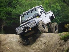 Land Rover Defender just playing. #LandROver #OffRoad #Adventure #Explore #FourWheelDrive