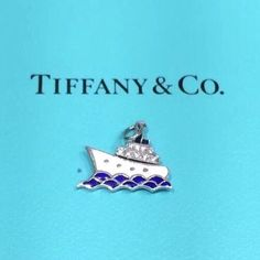 Tiffany & Co. Charm Jewelry, Fine Jewelry, Nautical Jewelry, Blue Sapphire, Tiffany, Jewelry Watches, Charms, Blue And White, Pendants