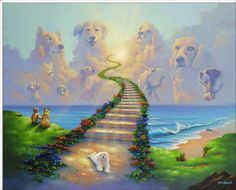 All Dogs Go to Heaven 2 All Dogs go to Heaven #2 by Jim Warren. Hand signed and embellished giclee print on canvas. All Dogs go to Heaven #2 is part of a 3 painting series.