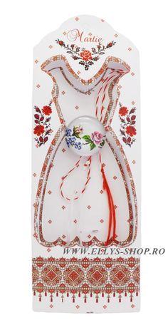 Martisoare traditionale motive populare romanesti trandafir - Ellys Shop Phone, Floral, Telephone, Flowers, Mobile Phones, Flower