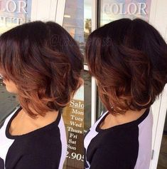 35 short ombre hair color ideas for brunettes that are 25 stunning examples of ombré color for short hair 35 … Pretty Hairstyles, Bob Hairstyles, Bob Haircuts, Hairstyle Ideas, Casual Hairstyles, Medium Hairstyles, Braided Hairstyles, Ombre Bob Haircut, Ombre Bob With Bangs