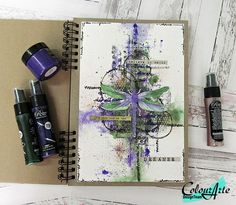 Art journal page with Radiant rains by kavitha | ColourArte Blog