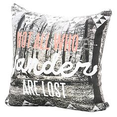 image of DENY Designs Wesley Bird Wander Square Throw Pillow