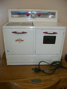 Vintage 1950s Little Chef Childs Electric Stove Oven Heavy