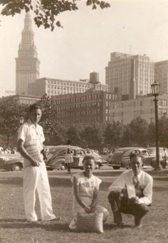Cleveland convention 1946 dad (standing) mom & Cecil (her brother) (Roger Johnson)