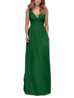 DescriptionWtoo by Watters Style101Full length bridesmaid dressV-necklineLong column skirtDeep V backChiffon