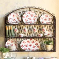 Wire Loop Wall Rack  Display your favorite kitchen collectibles
