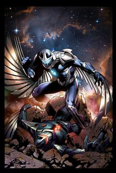Darkhawk vs Talon by Paul Pelletier
