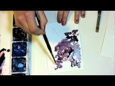 Learn how to watercolor lilac with the Frugal Crafter (a goddess :)).