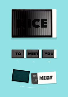 Porta tarjetas de presentación Nice to Meet You.
