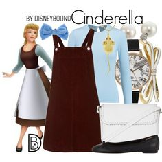Cinderella by leslieakay on Polyvore featuring Topshop, Oscar de la Renta, Barneys New York, Olivia Burton, Kate Spade, Rebecca Minkoff, Sydney Evan, disney and disneybound