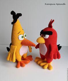 Купить Злые пички... - комбинированный, птичка, птица, энгри бертз, энгри бертс, вязаная птица