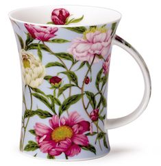 Dunoon - Fine Bone China Mugs - Richmond Shape : Paeonia Blue