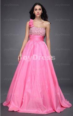 buy one shoulder dresses at joydress,Beading Princess One Shoulder Floor-length Dress,£74.00,