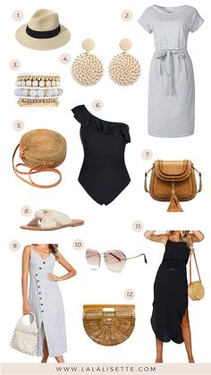 College spring break outfits perfect for the beach. Casual, cute spring break outfits you must have for a beach vacation. Mexico Vacation Outfits, Summer Vacation Outfits, Clothes For Beach Vacation, Summer Clothes, Outfits For Hawaii, Beach Vacation Packing, Beach Outfits, Florida Vacation, Amazon Mode