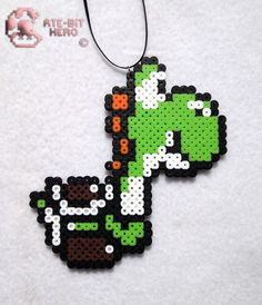 $6 - Super Mario World Yoshi Necklace Bead Sprite Perler Art #ebay #Electronics