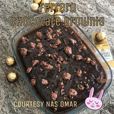 Ferrero Chocolate Brownie