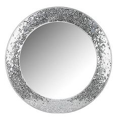 Silver Crackle Mirror Glass Bathroom Sparkle Glitter Bin New Next Day Post Ebay My Room