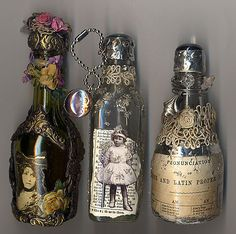 ❥ alter mini liquor bottles....
