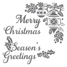 Merry Christmas and Season's Greetings on laser cut stencil