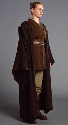 A un-used female jedi padawan from attack of the clones cosplay costume Theme Star Wars, Star Wars Jedi, Star Trek, Jedi Cosplay, Cosplay Costumes, Traje Jedi, Jedi Robe, Jedi Tunic, Jedi Outfit