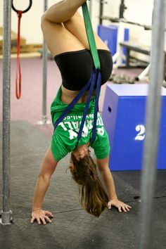 assisted hand stand push ups