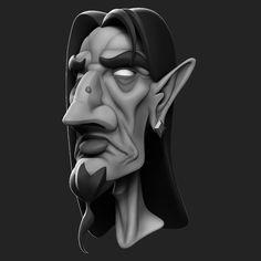 ArtStation - Wizard, Hugo Aubert 3d Face, Halloween Art, Sculpting, Fairy Tales, Batman, Darth Vader, Superhero, Artwork, Fictional Characters