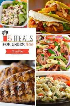 Free Weekly Meal Planning at ShopRite