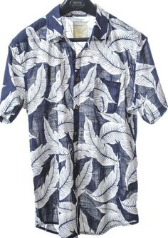Blue and white leaf-printed resort shirt by Life/ After/Denim ($110)