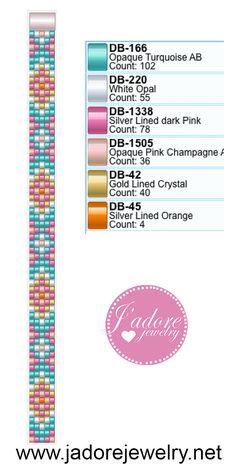 Seed beads bracelet pattern