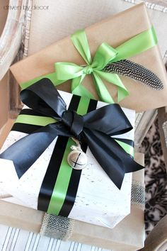 Tie a feather or jingle bell on a plain package to dress it up when wrapping for Christmas