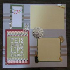 12x12 New Year's Eve Scrapbook Page by ButterflyScrapbookin, $9.00
