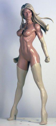 Ms Marvel Alt Head by ~TKMillerSculpt on deviantART