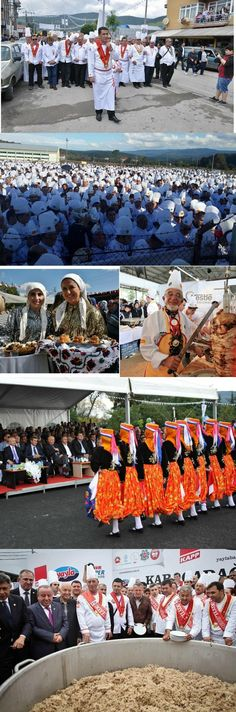 MENGEN (Bolu province) – Aşçılık ve Turizm Festivali (Cooking and Tourism Festival).  A gathering of thousands of chefs from all over the country.   After the opening procession: two days of cooking competitions between teams from hotels, schools, etc. (even between female village cooks); massive tasting possibilities; folkloric and cultural appearances; events (e.g. in 2014: the world's biggest 'pilav' – 3150 kg – prepared by 40 chefs = Guinness Book of Records).