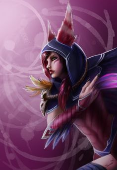 Yo everyone,here is a sketchy paining of Xayah from League of Legends. art~me Xayah~ Riot Games