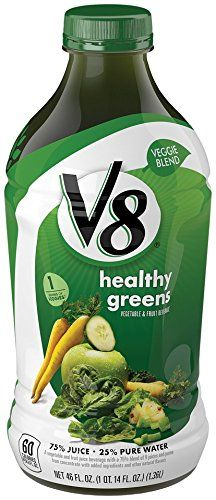 V8 Veggie Blend Healthy Greens, 46 Ounce (Pack of 6) ** You can find out more details at the link of the image.