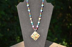 Rainbow Colored Gypsy Necklace by Linarain on Etsy, $22.00