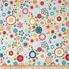 Riley Blake Fine & Dandy Flannel Floral Blue