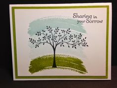Thoughts and Prayers, Work of Art, Sympathy Card, Stampin' Up!, Rubber Stamping, Handmade Cards