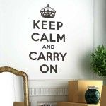 Keep Calm & Carry On Vinyl Wall Stickers