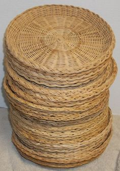 Lot Of 24 Rattan Wicker Paper Plate Holders 4 Different Colors & Cool Rattan Plate Holders Ideas - Best Image Engine - tagranks.com