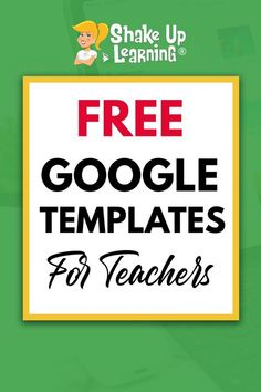 Click here to check out these FREE Google Templates for teachers! | Shake Up Learning Technology Lessons, Teaching Technology, Computer Lessons, Computer Lab, Computer Science, People Reading, Online Classroom, Shake, Google Classroom