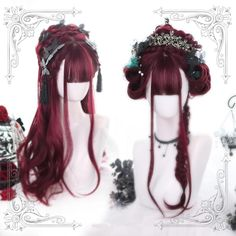 23/'/' Curly Pony Tail Base Red Cosplay Wig NEW