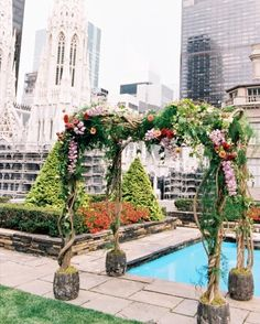 """See the """"The Chuppah """" in our Lilly and Sean's Enchanted-Forest Wedding on a Rooftop in NYC gallery"""
