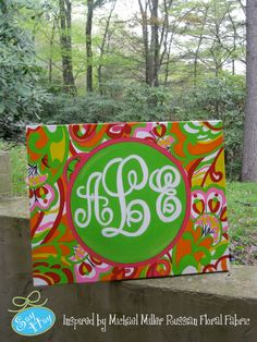 Ideal for any girls' room - this custom monogram painting is a splash of fun!